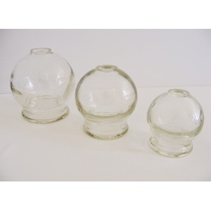 Glass Cups (set of three or individual)